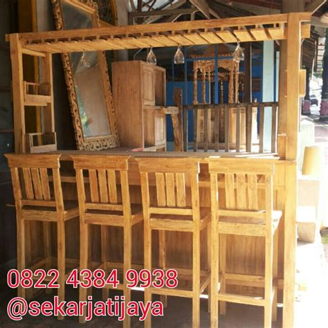 Kursi Untuk Mini Bar jual meja kursi cafe mini bar finishing rustic