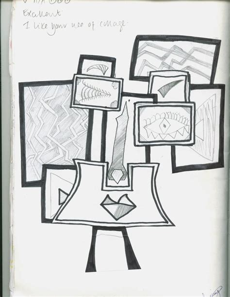how to draw cubism cubist drawing by jellybeanx9x
