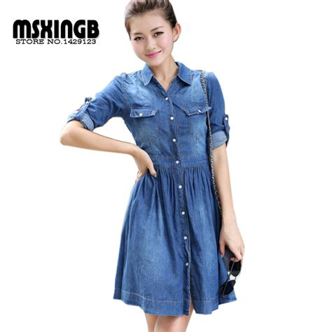 latest vogue style colcci jeans dresses 2015 2015 new fashion women denim dresses half roll sleeve long
