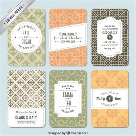 freepik wedding pattern variety of patterns for wedding invitation vector free
