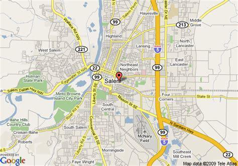 map of salem oregon map of salem travelodge salem