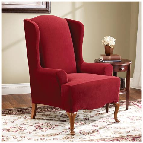 stretch slipcovers for chairs sure fit 174 stretch pearson wing chair slipcover 292826