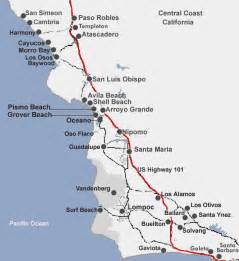 california coast cities map detailed map of central california coastal cities and