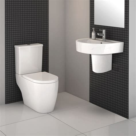Bathroom Tiling Ideas Uk by Bianco Modern Cloakroom Suite Available At Victorian