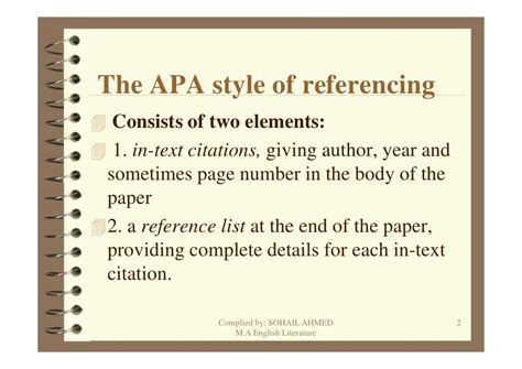 apa format style of referencing apa style referencing by sohail ahmed