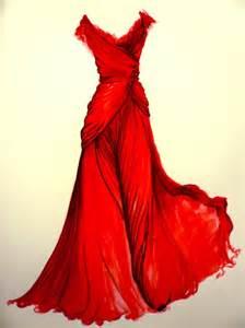 Red fashion dress sketch elie saab gown carelessingrace