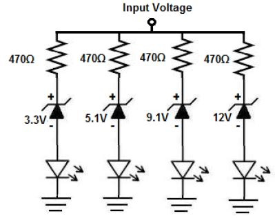12v zener diode breakdown voltage how to build a voltmeter circuit with zener diodes