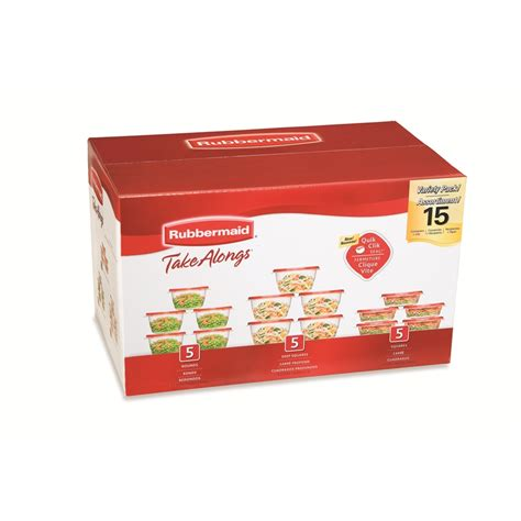 plastic containers for food storage shop rubbermaid 15 plastic food storage containers