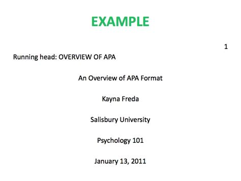 research paper title page in apa