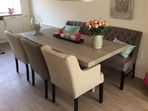 Tafel Met Bank En Stoelen eettafel unieke poot met stoelen en bank te boveldt