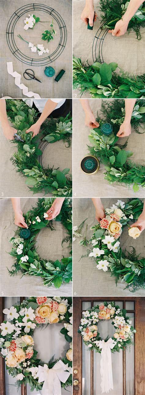 diy wedding wreath once wed