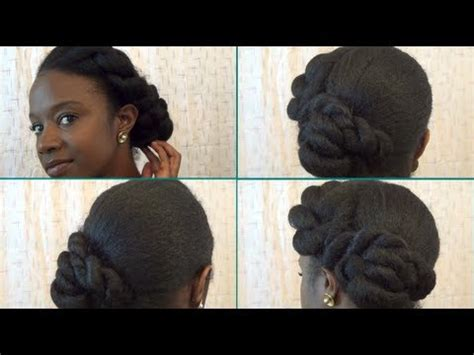formal hairstyles natural hair natural hair formal twisted updo protective style nik