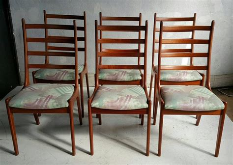 danish modern dining room chairs home furniture design set of six danish modern teak ladder back dining chairs by