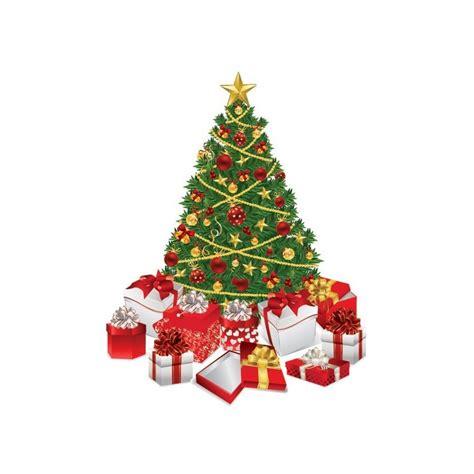 sticker scrapbooking sapin de noel vert avec cadeaux e