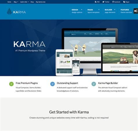 themes wordpress karma 15 best wordpress corporate business themes for entrepreneurs