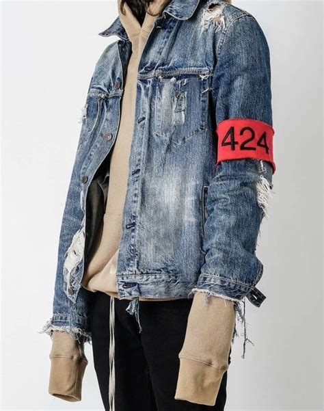 01 Jaket Ripped ripped jean jacket is