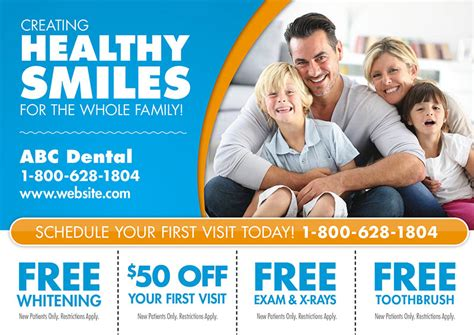 91 Brilliant Dentist Direct Mail Postcard Advertising Exles Dental Postcards Templates