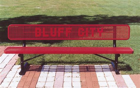 custom outdoor benches custom outdoor benches punched lettering custom benches