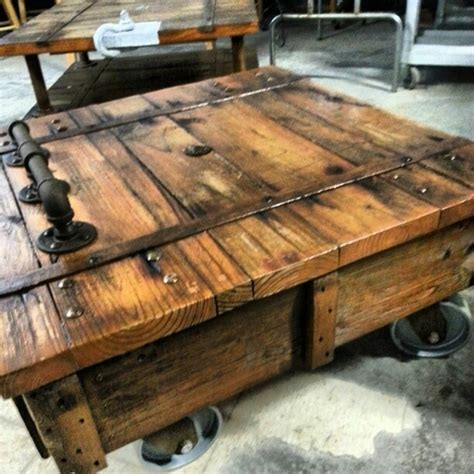 Warehouse Cart Coffee Table Hooligan Projects Pinterest Warehouse Cart Coffee Table