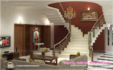 Beautiful Home Interior Designs By Green Arch Kerala House Interior Design Pictures Kerala Stairs