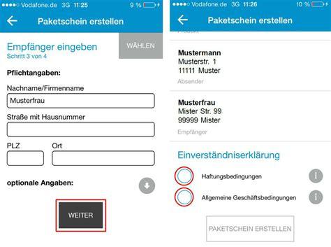 Hermes Paket Aufkleber by Einfach Und 252 Berall Paketschein Erstellen Mit Der Hermes App