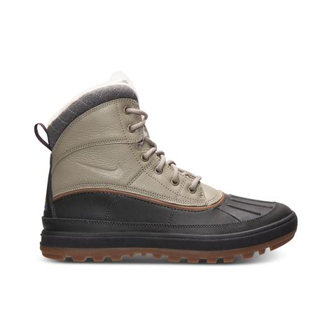 nike sneaker boots mens lyst nike woodside ii outdoor boots in black for
