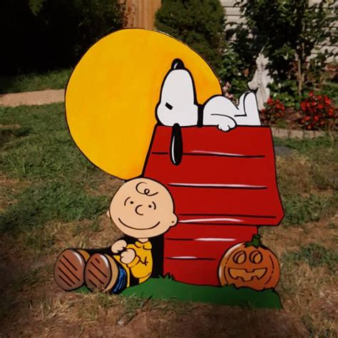 peanuts halloween charlie brown yard art decorations etsy