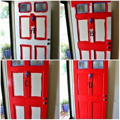 how to paint the front door how to paint a front door