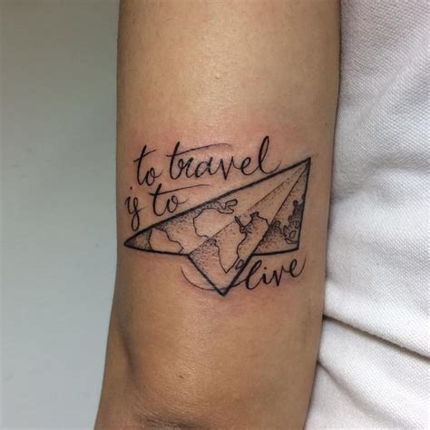 tattoos about travel 63 crazily stylish travel tattoos ideas to inspire the