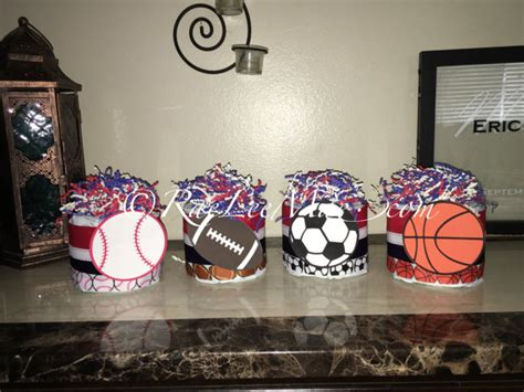 sports themed baby shower centerpieces 4 sports cake minis sports baby shower centerpieces or