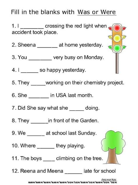 helping verb worksheets for was were journeys lesson 6 helping linking verbs