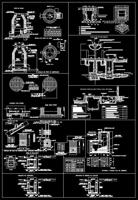 plumbing details cad drawings cad blocks