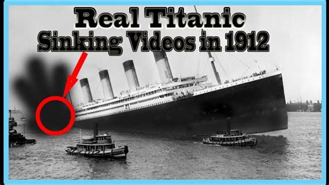 real titanic ship underwater sinking rare video in 1912 - Titanic Boat Real
