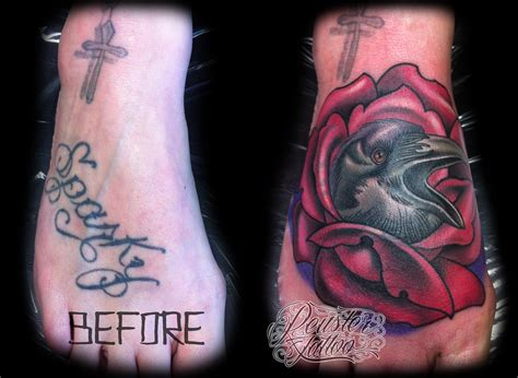 name cover up tattoo 18 sneaky cover ups that prove your mistakes don t