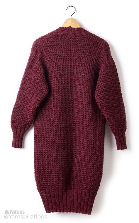 pattern cardigan long long weekend knit cardigan patterns yarnspirations