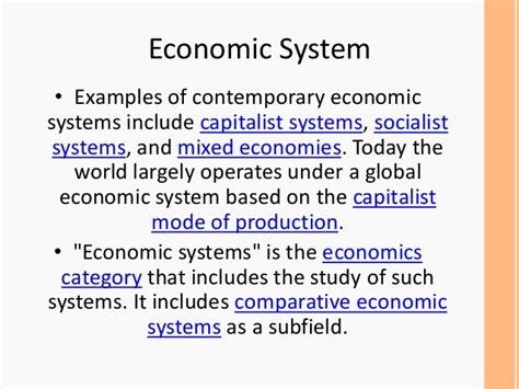exle of traditional economy economic system