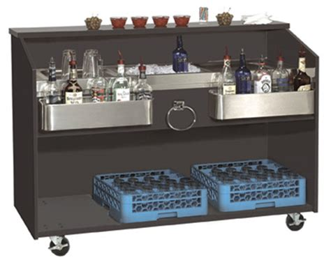 portable bar top advance tabco portable bar with stainless steel work top