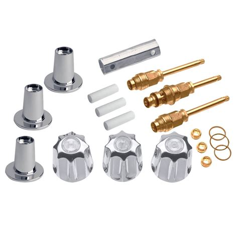 Price Pfister Kitchen Faucet Repair Parts by Tub Shower 3 Handle Remodeling Kit For Gerber In Chrome