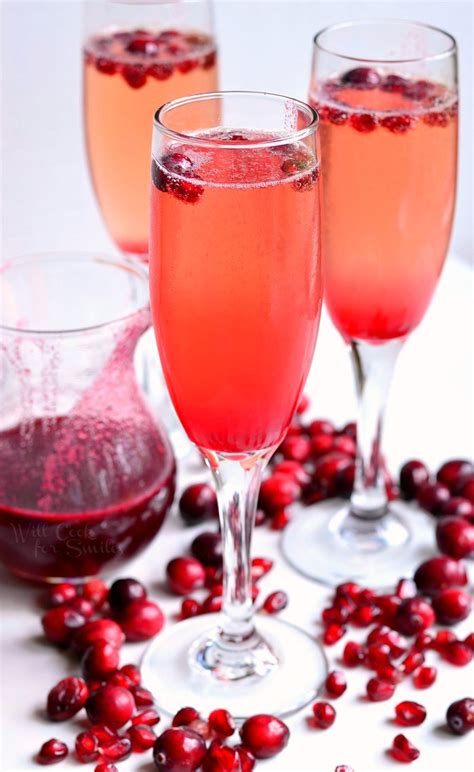 cranberry pomegranate champagne cocktail will cook for