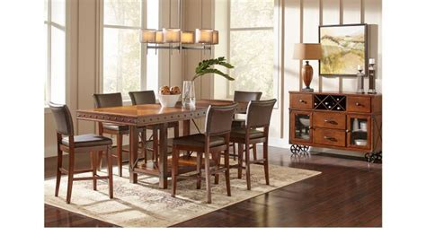red hook pecan counter height 95 dining room set counter height red hook pecan 5