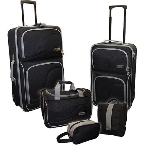 rugged luggage rugged cargo 5 luggage set black grey luggage walmart