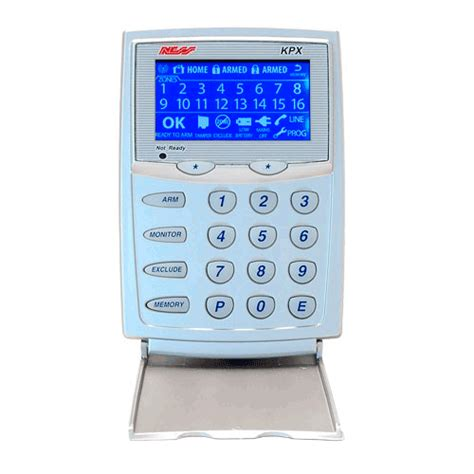 home security systems kit ness d8x kpx lcd keypad