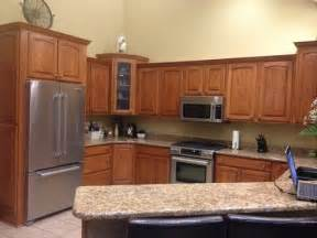 Medium Oak Kitchen Cabinets Oak Kitchen Cabinets Help What To Do Stain Or Paint