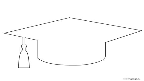 template of graduation hat graduation cap coloring page template grig3 org