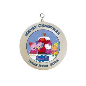 personalized peppa pig christmas ornament custom gift 6