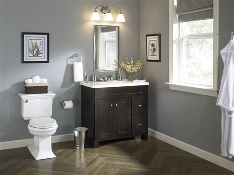 Lowes Bathroom Color Ideas Traditional Bath With An Vanity Traditional