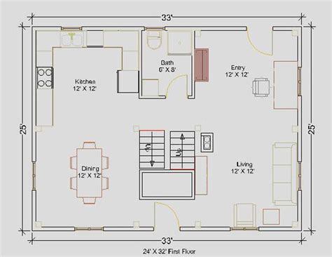 Small House Plans 24 X 32 Floor Plans 24 X 24 Http Www Grotontimberworks