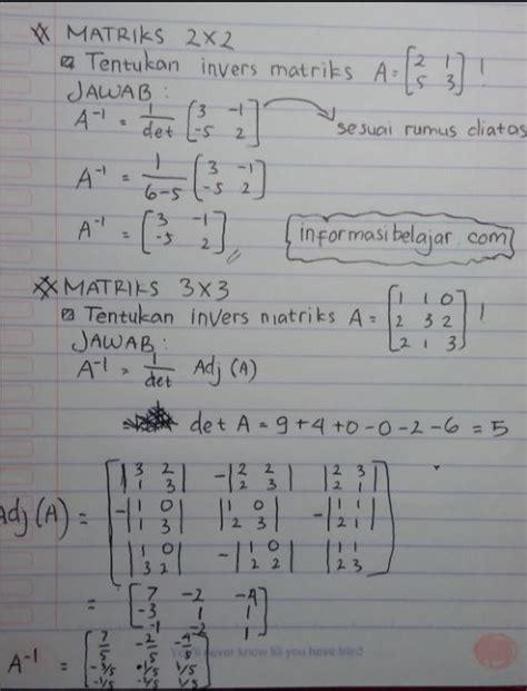 invers matriks   soal  pembahasan nanyajawabcom