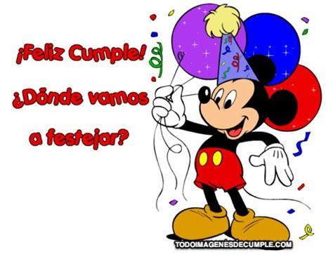 imagenes feliz cumpleaños mickey mouse imagenes de cumplea 241 os con mickey archives im 225 genes de