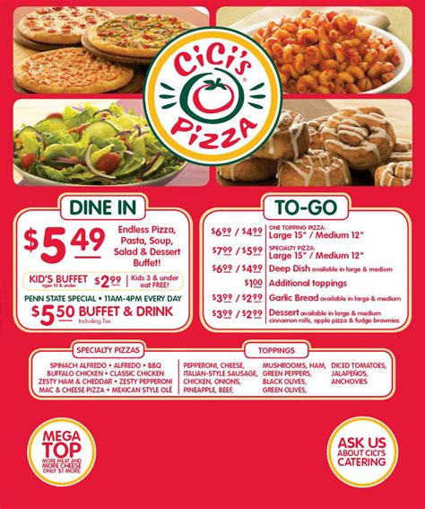 cici s pizza menu pictures to pin on pinterest pinsdaddy